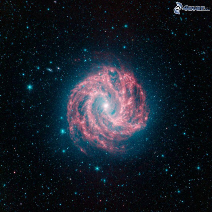 M83, špirálová galaxia, hviezdy