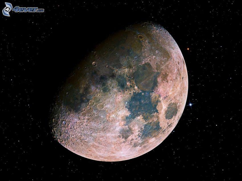 Mesiac, hviezdy