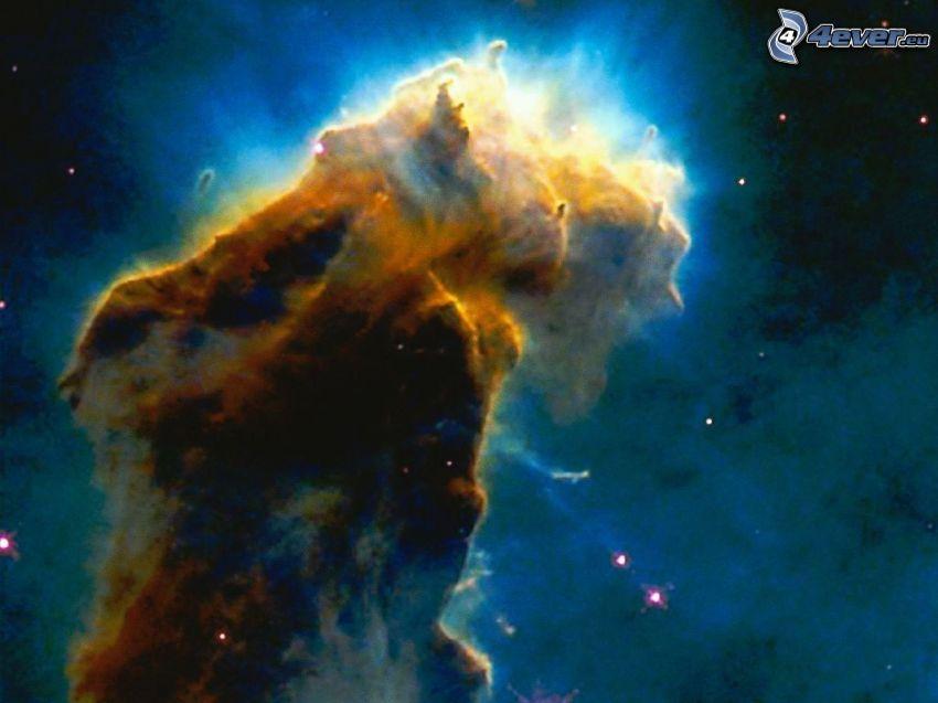 Orlia hmlovina M16, vesmír, hviezdy