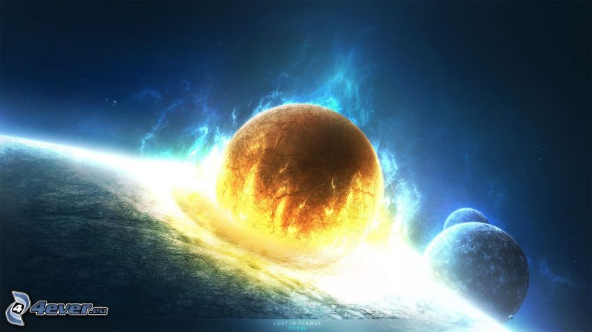 planéty, apokalyptický náraz