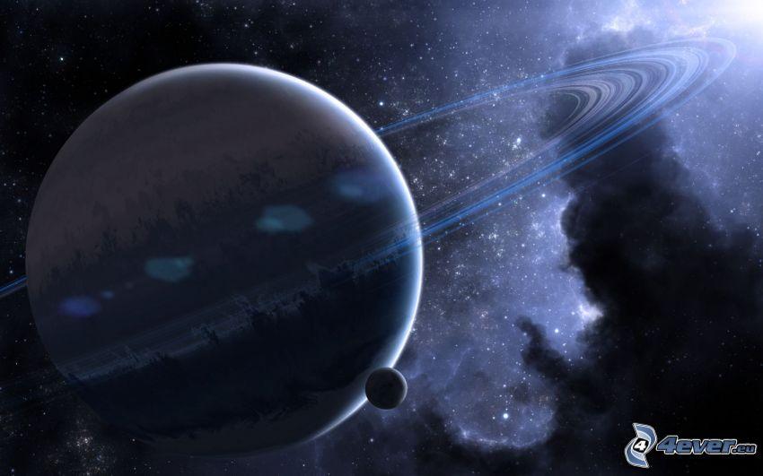 planéty, hmlovina