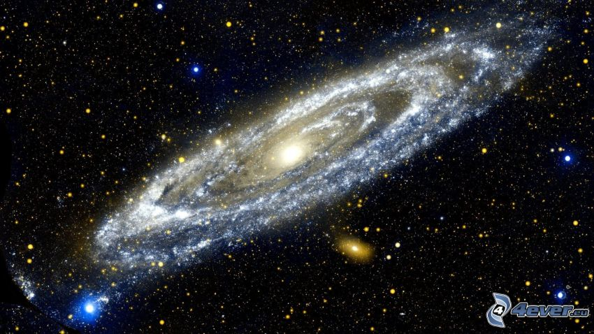 špirálová galaxia, hviezdy