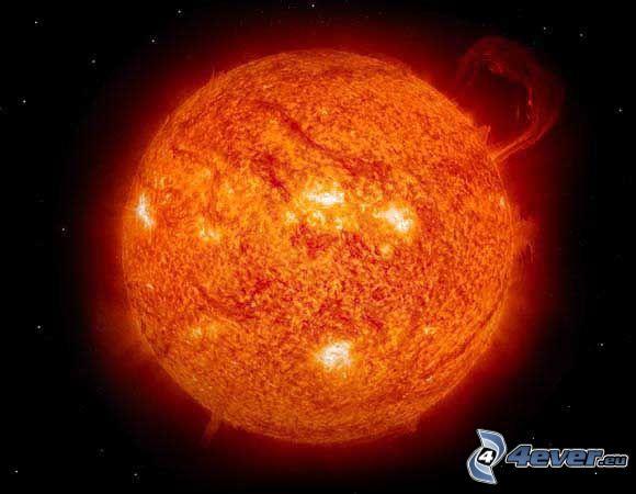 výbuch na Slnku, hviezda