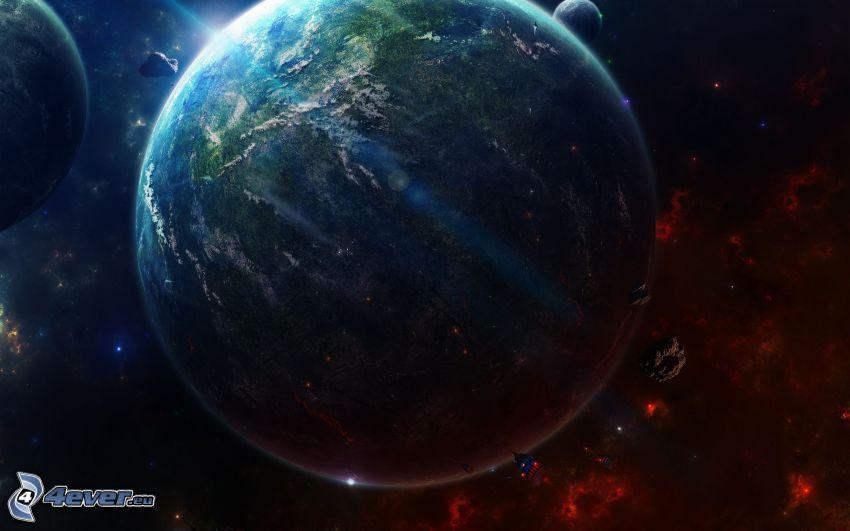 Zem, meteority