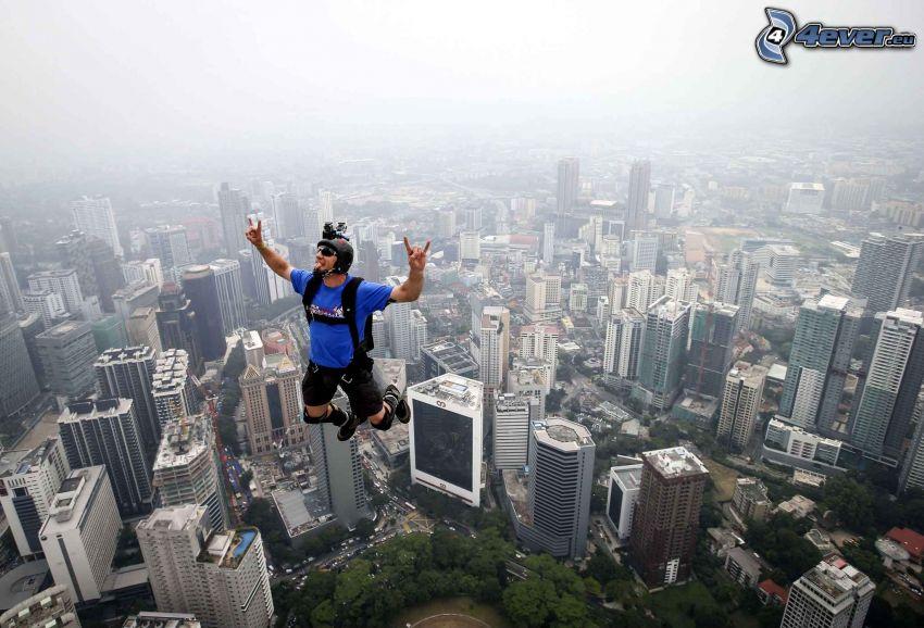BASE Jump, skok, mrakodrapy