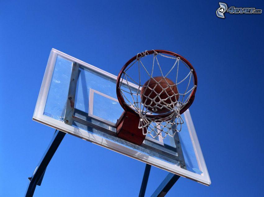 basketbalový kôš, lopta