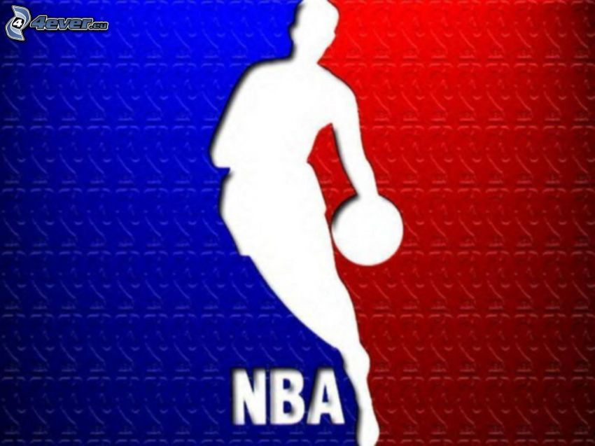 NBA, logo, basketbal