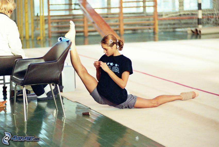 gymnastka, telocvičňa