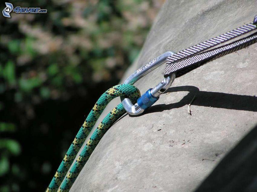 karabína, laná