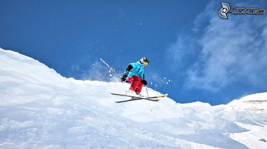 extrémne lyžovanie, skok na lyžiach