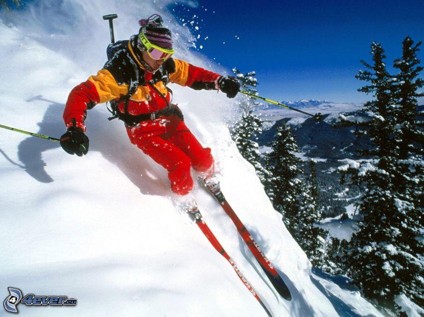 extrémne lyžovanie, sneh