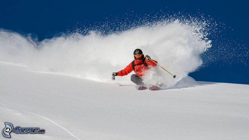 lyžovanie, sneh