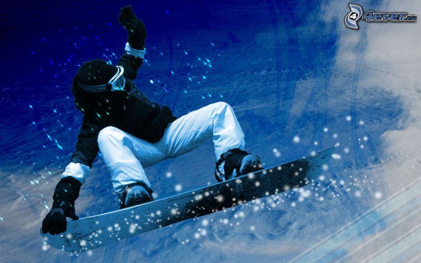snowboardový skok