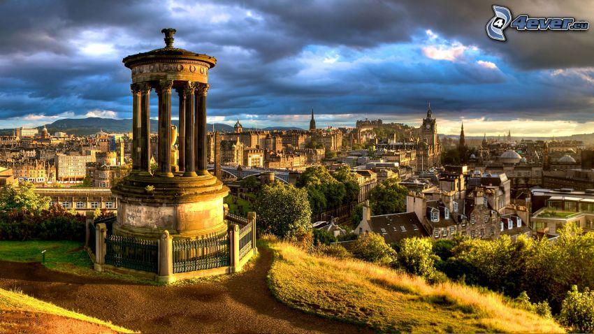 Edinburgh, výhľad na mesto