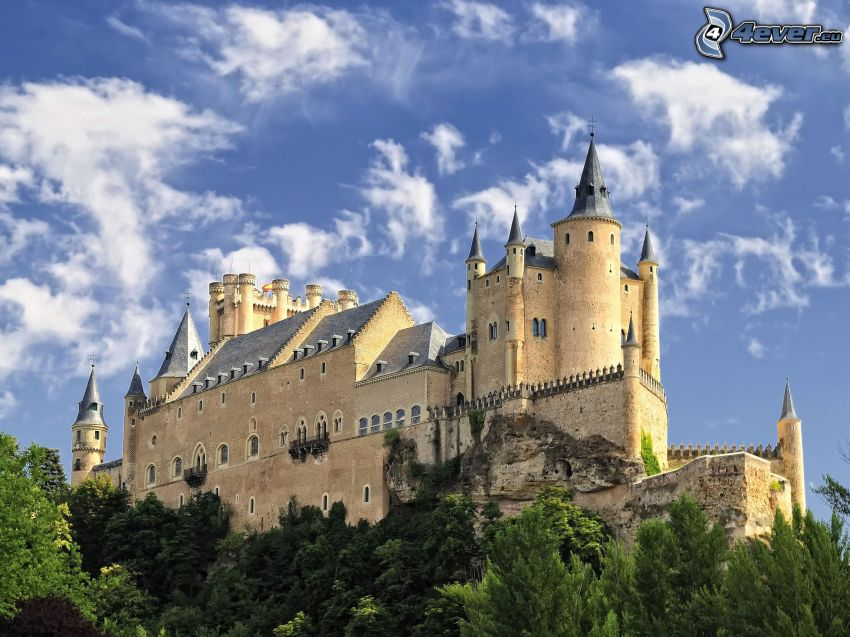 Alcázar of Segovia, oblaky