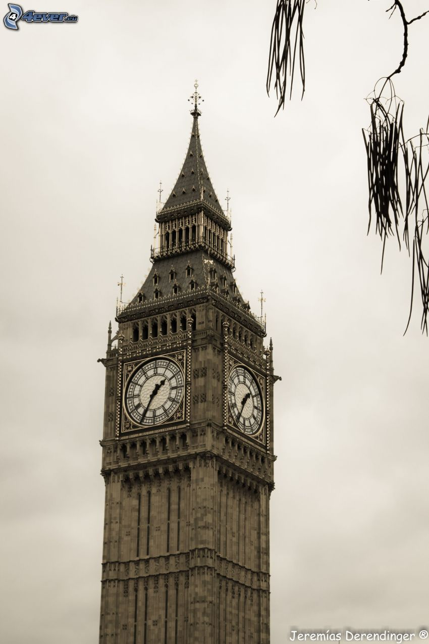Big Ben, hodiny, Londýn