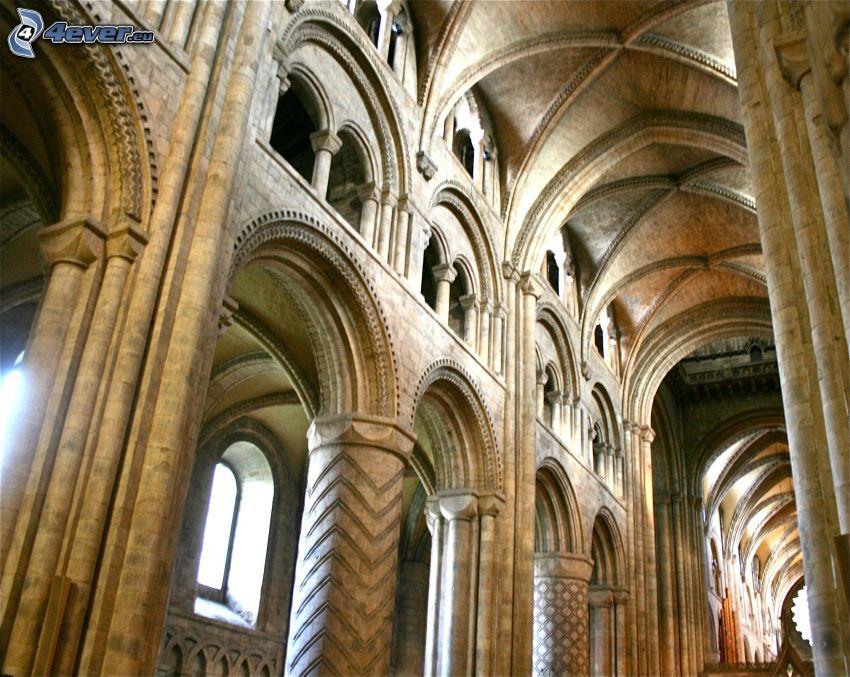 Durhamská katedrála, interiér, klenba