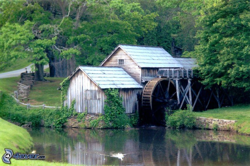 Mabry Mill, rieka, les