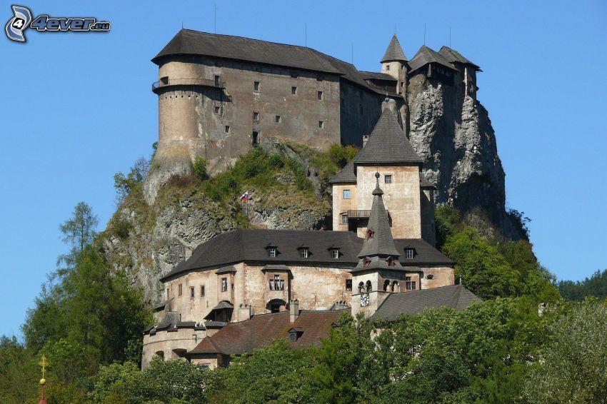 Oravský hrad, skala