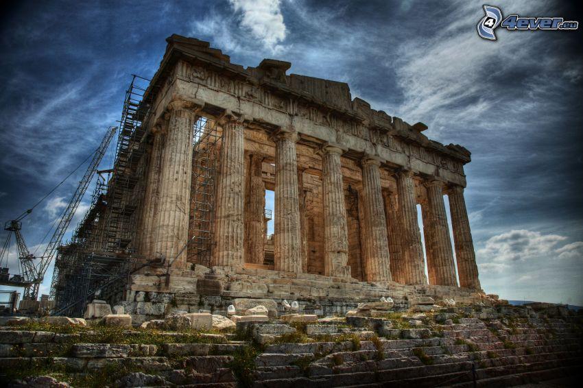 Parthenón, Atény, HDR