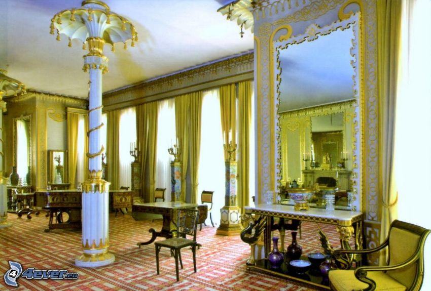 Royal Pavilion, interiér, kreslá