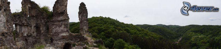 Šášovský hrad, pohorie