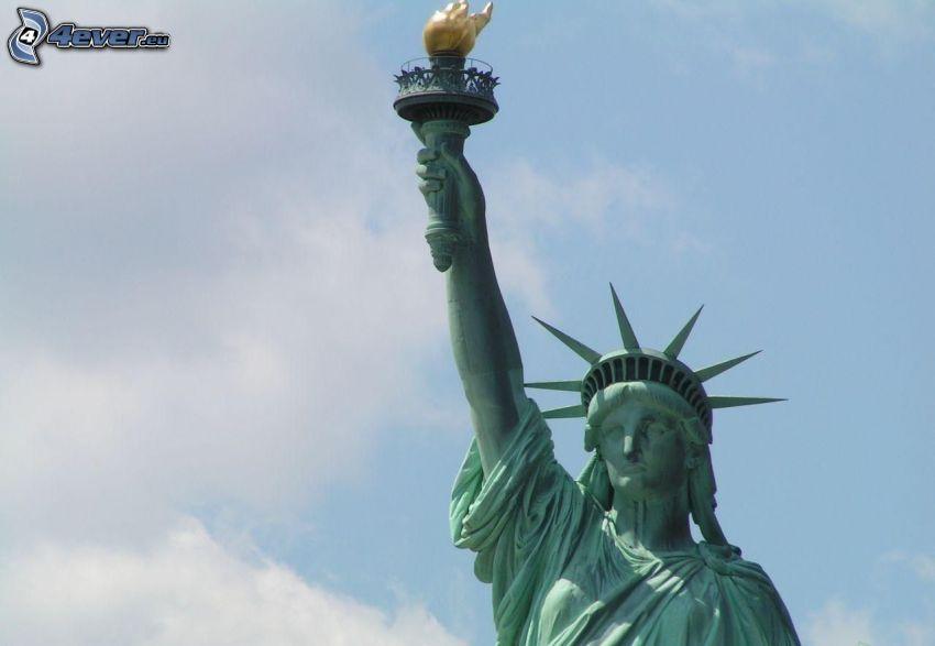 Socha slobody, New York, USA