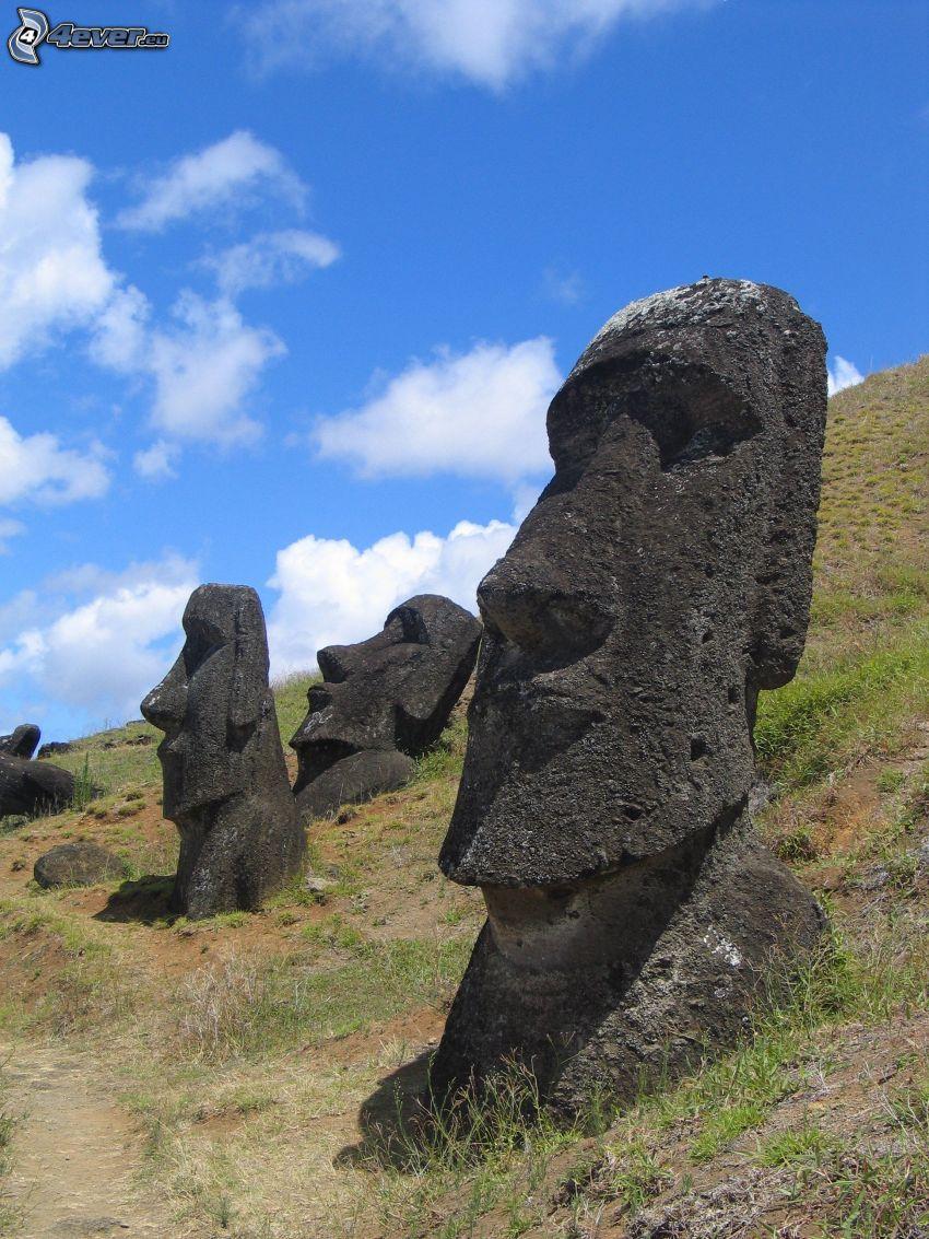 sochy Moai, Veľkonočný ostrov