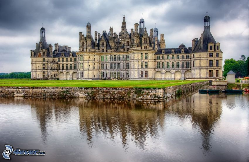 zámok Chambord, Cosson, HDR