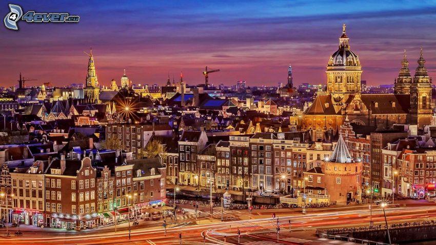 Amsterdam, večer