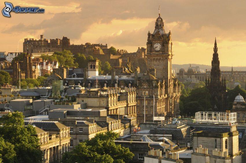 Edinburgh, Edinburgský hrad, kostolná veža
