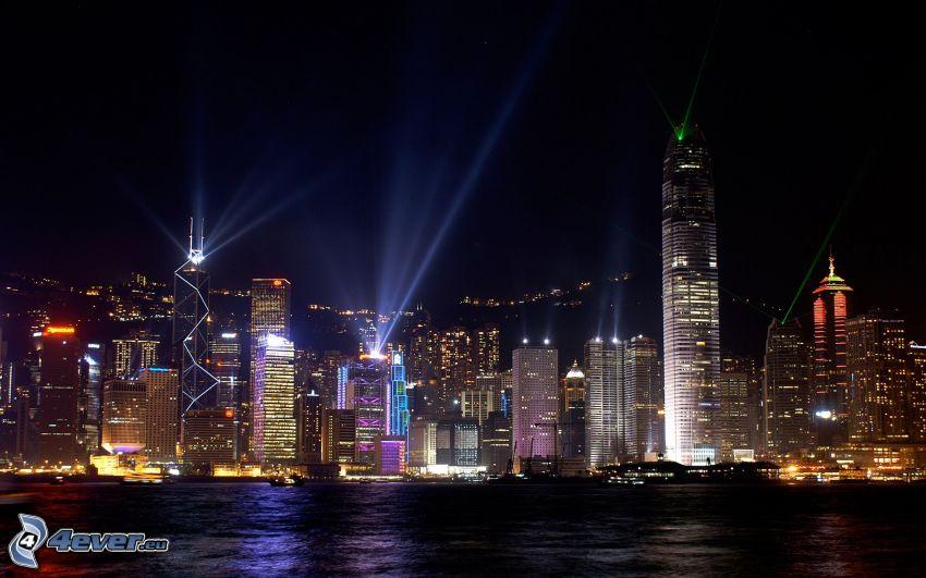 Hong Kong, nočné mesto