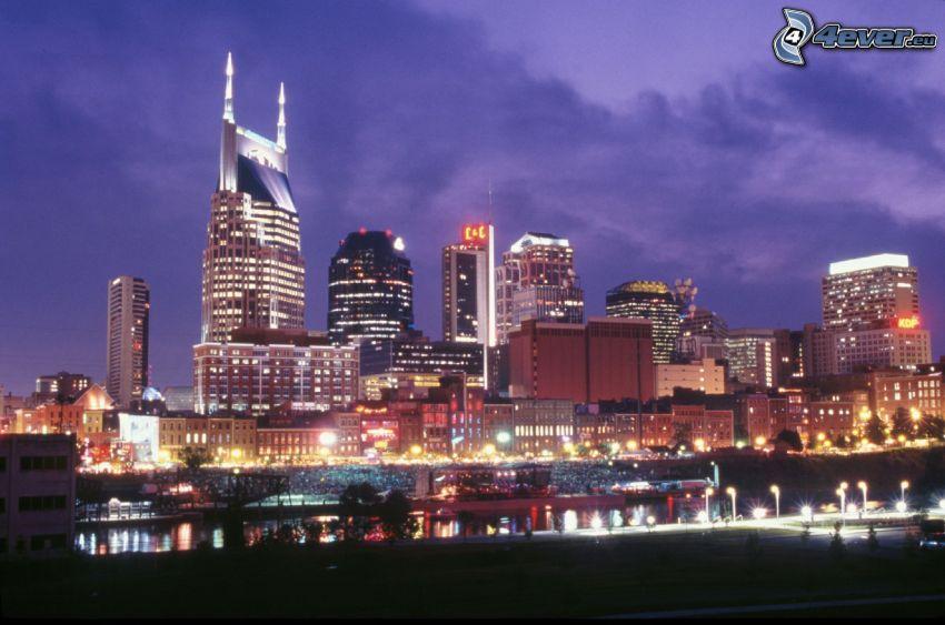 Nashville, nočné mesto