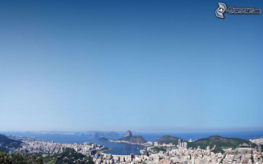 Rio De Janeiro, prímorské mestečko, výhľad na mesto