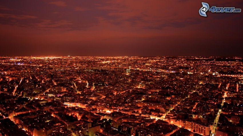 výhľad na mesto, noc