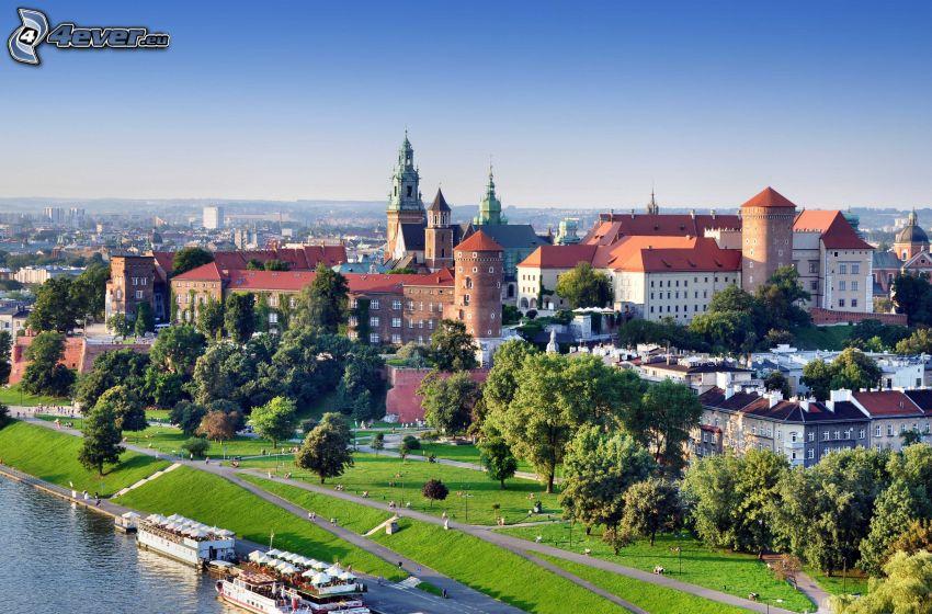 Wawelský hrad, Krakov, pobrežie