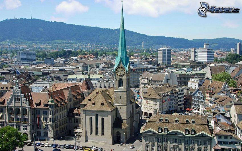 Zürich, výhľad na mesto
