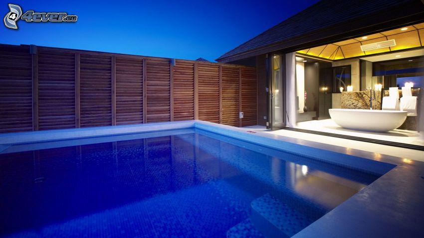 bazén, luxusný dom