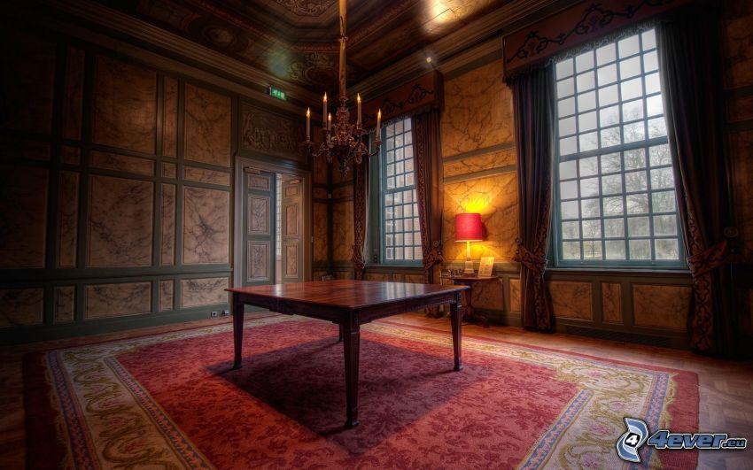 izba, stôl, HDR