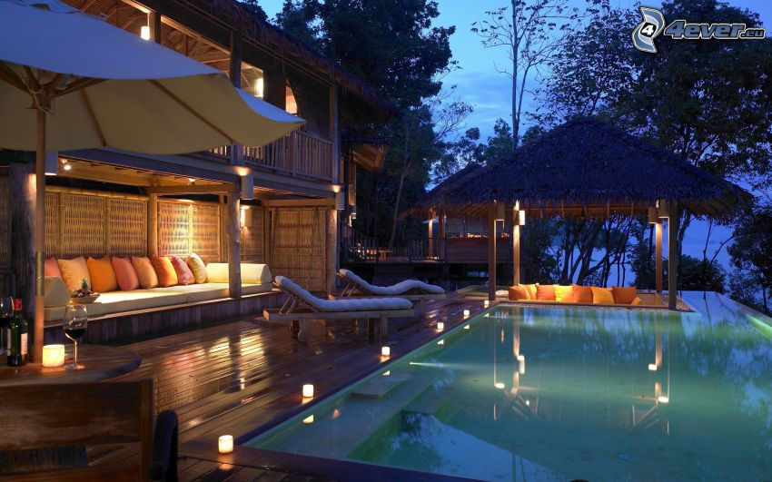 luxusný dom, bazén