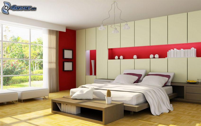 manželská posteľ, spálňa