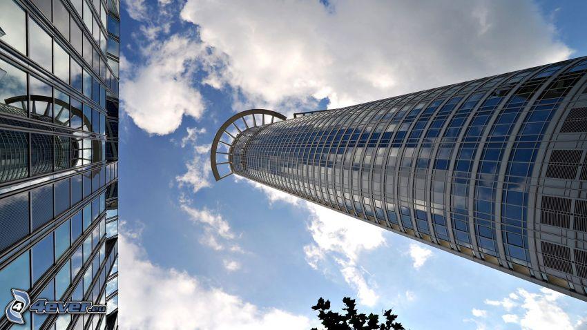 mrakodrap, obloha