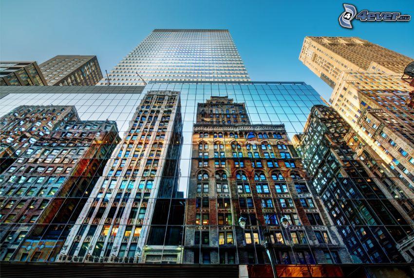 mrakodrapy, odraz