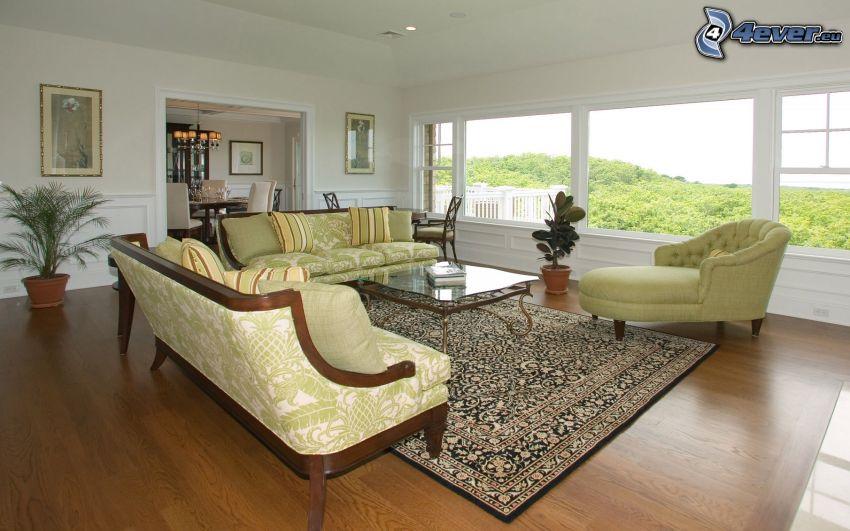 obývačka, nábytok