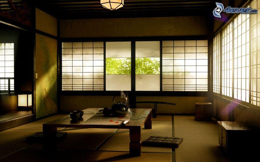 obývačka, okná
