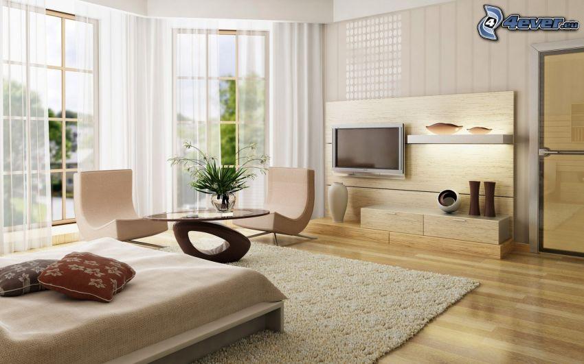 spálňa, nábytok
