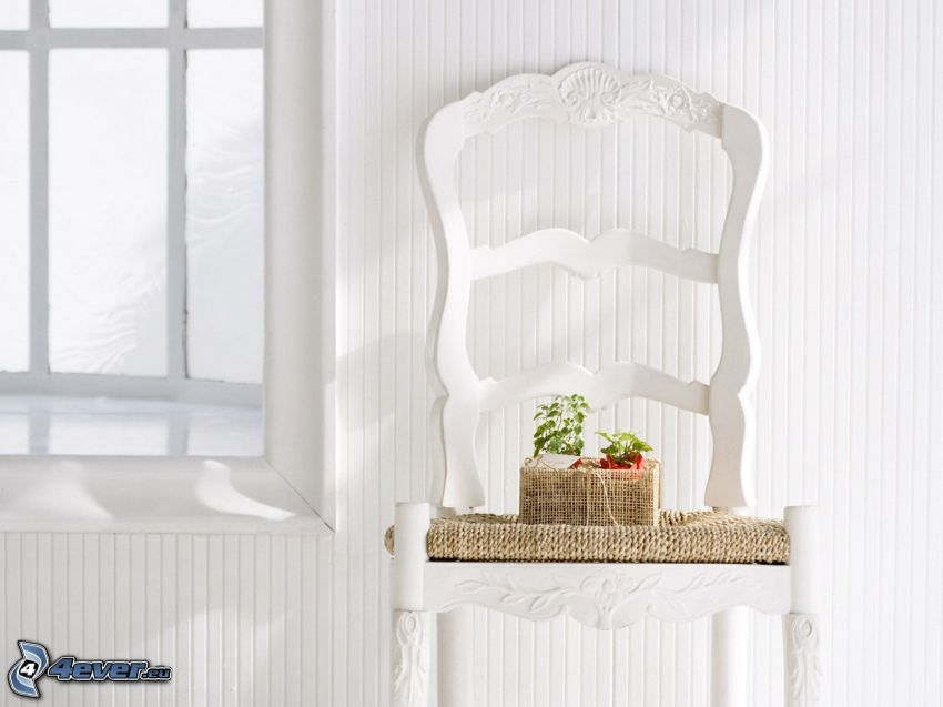 stolička, okno