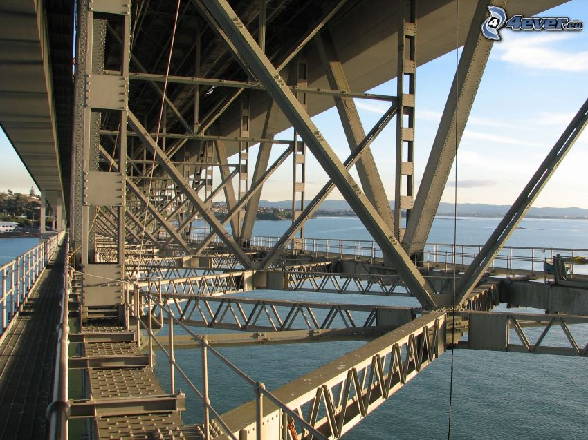 Auckland Harbour Bridge, konštrukcia