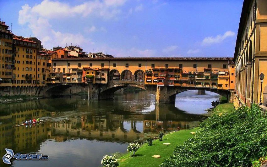 Ponte Vecchio, Florencia, Arno, rieka, most