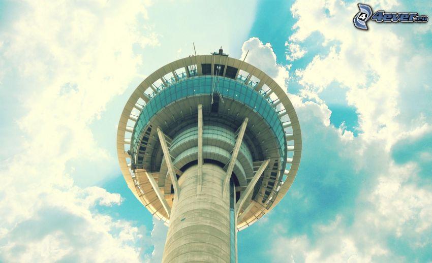 vyhliadková veža, oblaky